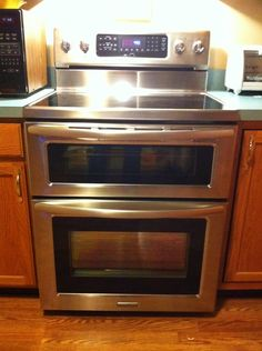 kitchenAid double oven glass cooktop - BEST THING EVER