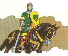 Sir Gawain as drawn by John Cullen Murhpy (installment #2164, July 30, 1978) PV-7-30-78e