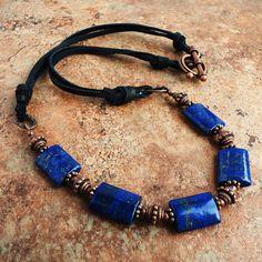 Blue Lapis Lazuli Gemstone Necklace