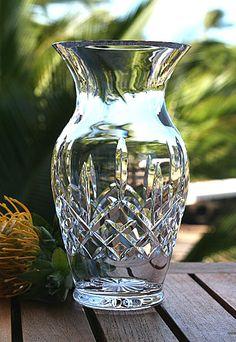 Waterford Lismore 8in Bouquet Vase Crystal Decanter, Crystal Glassware, Crystal Vase, Waterford Lismore, Waterford Crystal, Waterford Decanter, Cut Glass Vase, Glass Art, Porcelain Dolls For Sale