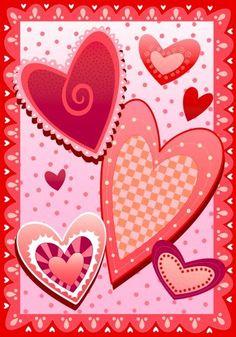 Buy Crazy Hearts Valentine Garden Flag By Yuinakub