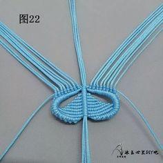 点击查看原图 Macrame Knots, Micro Macrame, Macrame Bracelets, Diy Yarn Decor, Macrame Jewelry Tutorial, Free Macrame Patterns, Bracelet Patterns, Crochet Necklace, Butterfly