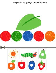 us wp-content uploads 2015 12 hungry_caterpillar_cutting_pasting. The Very Hungry Caterpillar Activities, Hungry Caterpillar Party, Farm Birthday, 1st Birthday Parties, Sequencing Activities, Activities For Kids, Pete The Cats, Lalaloopsy Party, Bug Crafts