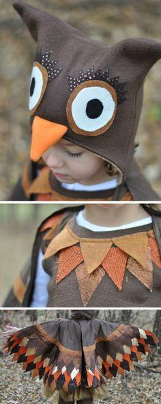 62 utterly adorable homemade halloween costumes for kids fabric homemade hooty owl costume animal costumes diyowl solutioingenieria Images