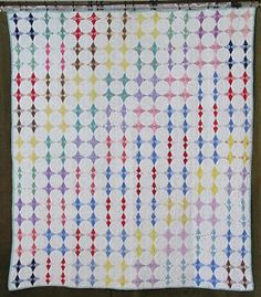 Beautiful Cottage Home! Vintage 30s Feedsack Double Irish Chain ... : cleaning antique quilts - Adamdwight.com