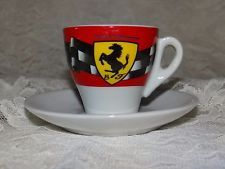 Coffee Mug Cup Tea Latte Espresso Ferrari Mini Saucer Italian Car
