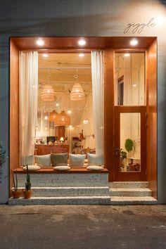 Bakery Shop Design, Coffee Shop Interior Design, Restaurant Interior Design, Store Design, Modern Restaurant, Decoration Restaurant, House Design, Desk Chair, Sofa Chair