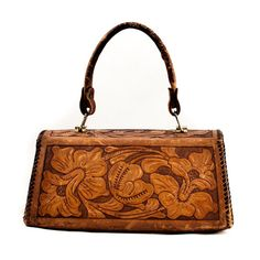 Vintage Purse Bag Hand Tooled Leather by goodmerchants on Etsy, $45.00