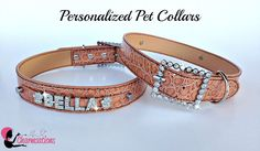 Personalized dog collars from Charmsations  #dog, #cat