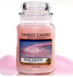 'Pink Sands' - Yankee Candle. This smells amaaazzing! I love it for summer it smells like vanilla and sweet pretty flowers and like..the beach I guess lol smells like what pink sand would smell like lol