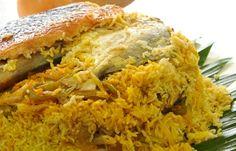 layered Pomfret & Rice ( Kuwaiti style)