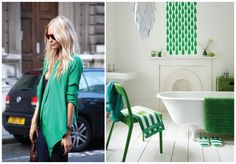Esmeralda: fashion x decor #emerald #pantone #fashion #decor #casadasamigas