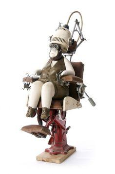 L'artiste belge Stephane Halleux crée ces petits personnages étranges. ( Via )