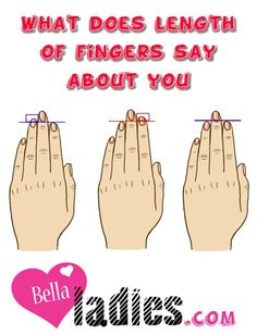 What does length of fingers say about you – Bella Ladies Bella Ladies