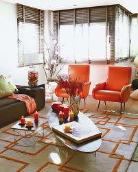 Tangerine Tango In Home Decor - Pantone Color of the Year Living Room Orange, Living Room Grey, Living Room Decor, Design Blog, Deco Design, Design Art, Architectural Digest, Tango, Orange Home Decor