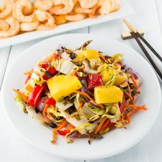 This Roasted Hawaiian Slaw is an easy and beautiful side dish that pairs well with Asian, Caribbean, and Southwest flavors. It's great for a picnic or BBQ!