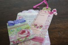 Handmade vintage style floral bookmarks by MoonRoseBoutique, £5.00