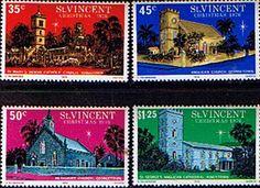 St Vincent 1976 Christmas Set Fine Mint SG 494/7 Scott 475/8 Other St Vincent Stamps HERE