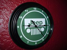 Jeep Motors Shop Advertising Garage Man Cave Wall Clock SIgn on Etsy, $17.99