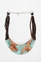 """love this look & the """"feel' of this statement piece: Sibilia Canyon Pectoral Necklace  #UrbanOutfitters  however it's not exactly the most affordable thing at $158.. but if you are looking for a gift, or spendy piece for your """"go-to """" jewelry p-- this is it"""