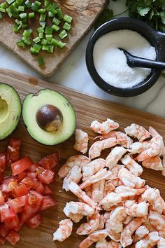 Zesty Lime Shrimp and Avocado Salad – a healthy salad made with shrimp, avocado, tomato, lime juice, jalapeno and cilantro.
