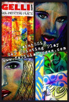 Gelli Arts Gel Printing Play