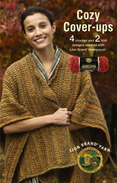 #Cozy #Cover-ups featuring Lion Brand Homespun ~ #Crochet & #Knitting #Book #Review ~ Crochet Addict UK ~ http://www.crochetaddictuk.com/2013/12/cozy-cover-ups-featuring-lion-brand.html