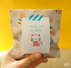My doodle on paper bag #packaging #cute #kawaii
