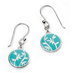 Blue Bamboo Enamel Earrings #Catherinejones #cambridge #necklace #bracelet #pearls #jewellery #trends Bamboo, Enamel, Gift Wrapping, Turquoise, Drop Earrings, Pearls, Personalized Items, Cambridge, Bracelets