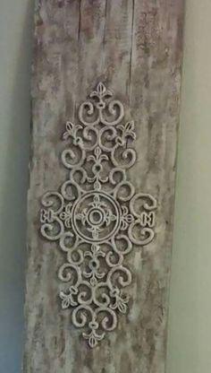 Paneel met deurmat, bewerkt met muurvuller