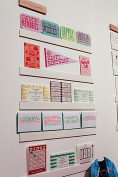 giant ticket cards and more by a.favorite design at NSS 2012 | via ohsobeautiful paper