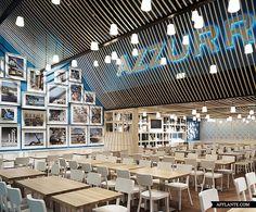 Azzurro Restaurant in Switzerland // Andrin Schweizer