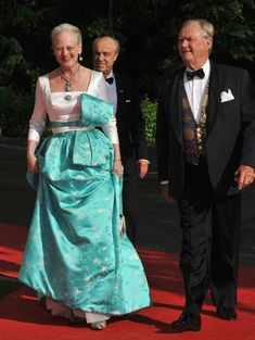 Queen Margrethe of Denmark and Prince Consort Henrik were among the guests attending Victoria and Daniel's final pre-wedding celebrations