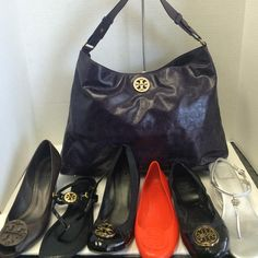 Brighten up the dog days of summer with the always sunny Tory Burch! We have a HUGE variety of shoes just in ranging from 7-9 (call store for specifics) and this adorable purple purse as well as a not pictured black shoulder bag! Call or stop in today to treat yourself to some Tory #toryburch #toryburchflats #lovetory #closetrevivaltx #resalerocks