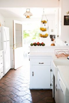 white SoCal kitchen —Chris and Amber's Old + New Renovated Home   Apartment Therapy