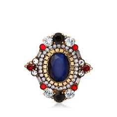 ERICKSON BEAMON Patchwork Ring (€345) ❤ liked on Polyvore featuring jewelry, rings, swarovski crystal jewelry, erickson beamon ring, erickson beamon jewelry, erickson beamon and swarovski crystal rings
