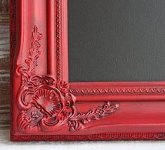 Items similar to Red Framed Chalkboard, Rustic Wedding Decor, Kitchen Chalkboard Magnetic Blackboard, Rustic Home Decor, on Etsy Kitchen Chalkboard, Magnetic Chalkboard, Framed Chalkboard, Red Mirror, Blackboards, Rustic Wedding, Door Handles, Wedding Decorations, Hand Painted