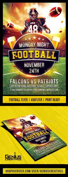 American Football Flyer  Print Templates Flyer Printing And Template