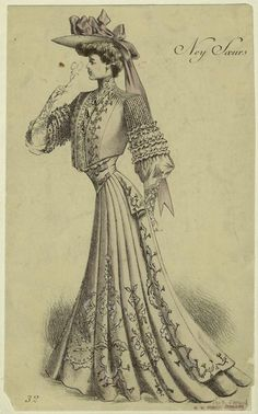Fashion plate, 1904, unknown source