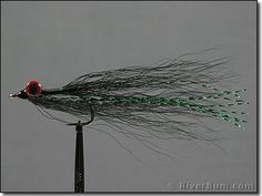 Black Clouser Deep Minnow Fly - This classic saltwater fly is probably the most popular saltwater pattern in the world. Effective on nearly every predatory saltwater species, it is especially useful for stripers, bluefish, bonefish, redfish, snook, seatrout, and many others. It has also become a very popular freshwater streamer pattern.