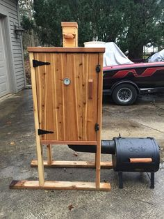 - Expolore the best and the special ideas about Homemade smoker Backyard Smokers, Outdoor Smoker, Outdoor Oven, Backyard Bar, Outdoor Cooking, Smoke House Plans, Smoke House Diy, Diy Smoker, Homemade Smoker