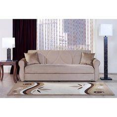 Amazon.com: Melody Three Seat Sleeper Sofa in Dark Beige: Furniture & Decor