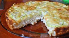 Пирог закусочный диетический с курицей