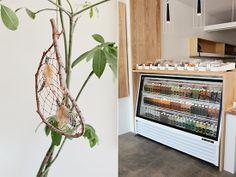 moon juice | designlovefest Pet Trailer, Taco Shop, Retail Design, Moon Juice, Cabinet, Space, Storage, Inspiration, Florals