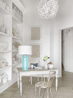 coastal home office | Amy Studebaker Design