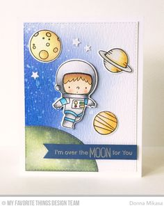 Space Explorer Stamp Set and Die-namics, Blueprints 24 Die-namics - Donna Mikasa  #mftstamps