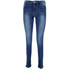 Boohoo Mya Contrast Stretch Detail Super Skinny Jeans ($44) ❤ liked on Polyvore