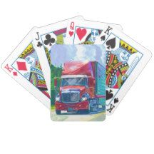 Lorry Big Rig Truck-Driver's Card Deck Bicycle Playing Cards