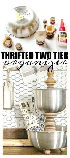 How to Make a Stainless and Wood Tiered Organizer.