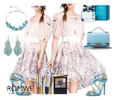 """10#Romwe"" by fatimka-becirovic ❤ liked on Polyvore featuring Jimmy Choo, Yves Saint Laurent and Tommy Hilfiger"